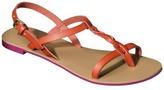Mossimo Women's Leigh Sandal - Orange Bloom