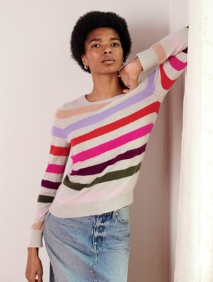 White + Warren Cashmere Multi Stripe Crewneck