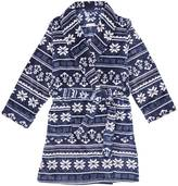 Nautica Snowflake Fair Isle Shawl Collar Robe