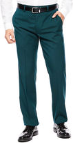Jf J.Ferrar JF Teal Flat-Front Suit Pants - Slim-Fit