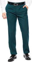 Jf J.Ferrar Men's JF Teal Flat-Front Straight-Leg Slim-Fit Suit Pants
