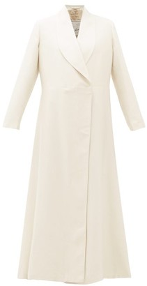 Giuliva Heritage Collection The Angelica Herringbone-weave Cotton-blend Coat - Womens - Ivory