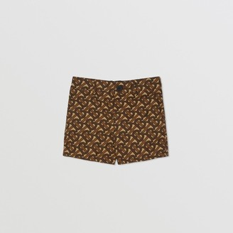 Burberry Childrens Monogram Print Cotton Tailored Shorts