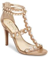 Jessica Simpson Women's Eleia Imitation Pearl Stud Sandal