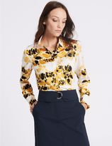 Marks and Spencer Floral Print Long Sleeve Shirt