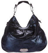 Mulberry Textured Metallic Hobo