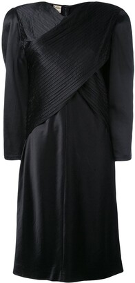 Krizia Pre Owned Oversize Wrap Front Dress