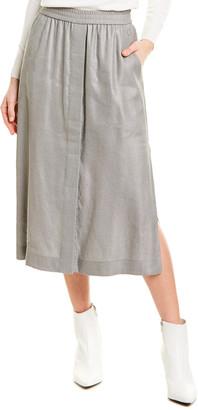 Escada Sport Linen-Blend Midi Skirt