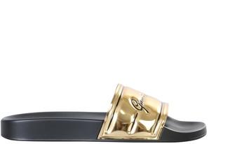 Versace Slide Sandals With Logo