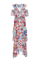 Tanya Taylor Textured Floral Isabelle Dress