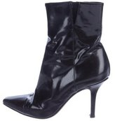 Jimmy Choo Pointed-Toe Leather Ankle Boots