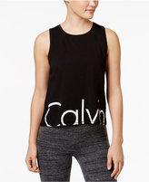 Calvin Klein Cropped Logo Tank Top
