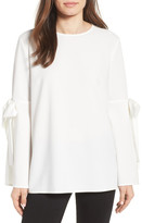Halogen Tied Bell Sleeve Top (Petite)