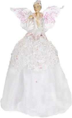 Gisela Graham - Woodland Snow Fairy Christmas Tree Topper - White
