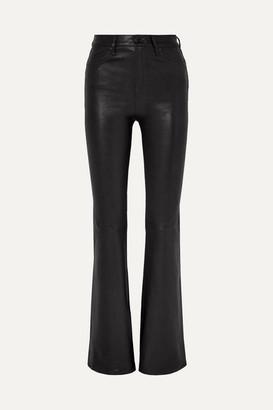 Rag & Bone Bella Leather Flared Pants - Black