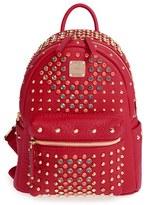 MCM 'Mini Diamond Stark' Swarovski Crystal Embellished Backpack - Red