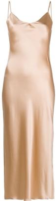 SABLYN Lace Detail Silk Slip Dress