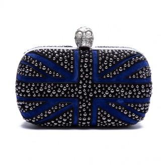Alexander McQueen Skull Blue Synthetic Clutch bags