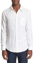 Onia Men's 'Abe' Trim Fit Stripe Linen Shirt
