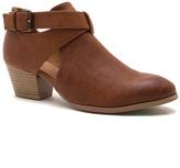 Qupid Cognac Travis Ankle Boot