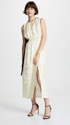 Yigal Azrouel Abstract Paisley Sleeveless Dress
