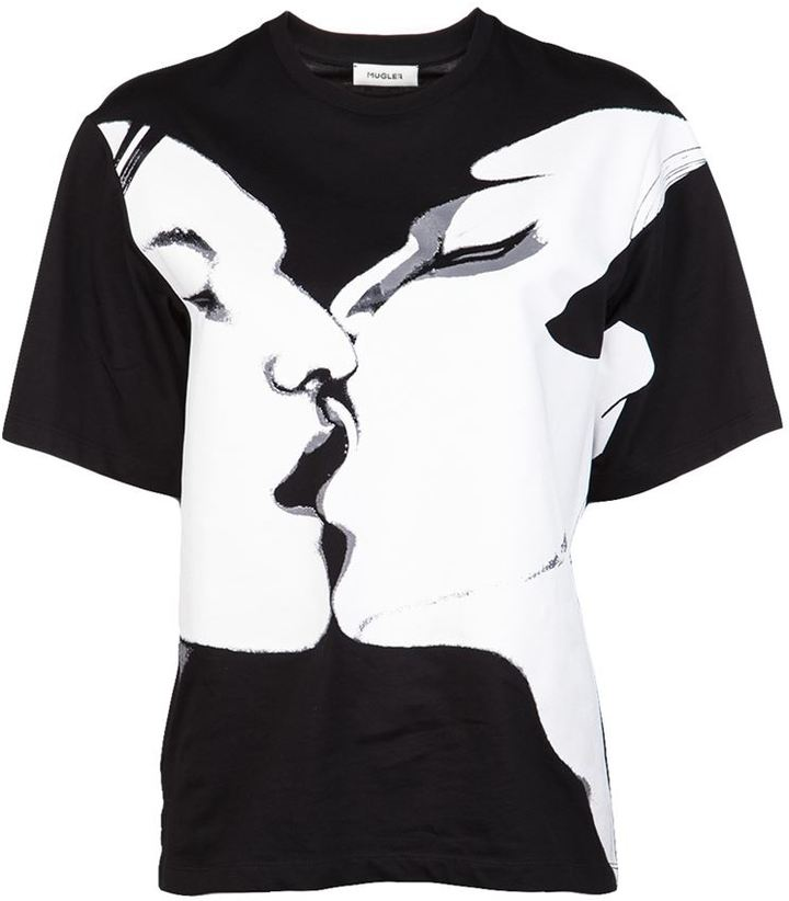 Thierry Mugler Screen print t-shirt