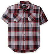 Akademiks Men's Big and Tall Grand Woven Shirt (Various Colors and Sizes Including Big and Tall)