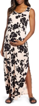 Angel Maternity Busy Mama Maternity/Nursing Maxi Dress