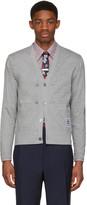 Thom Browne Grey Trompe Loeil Sport Coat Cardigan