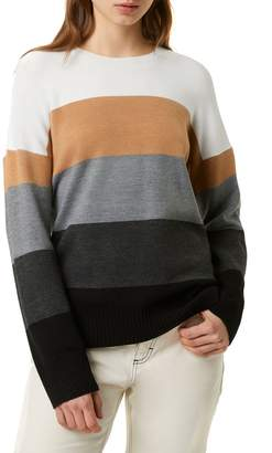 French Connection Rainbow Striped Sweater