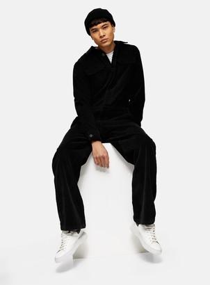 Topman Black Corduroy Boiler Suit