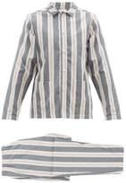 Nufferton - Uno Striped Cotton Pyjama Set - Mens - Grey Multi