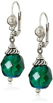 "Sorrelli Emerald City"" Crystal Globe Drop Earrings"