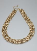 Stephan & Co Three Row Link Necklace
