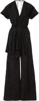 Rosie Assoulin Black Printed Jumpsuit