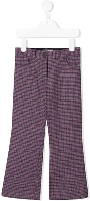 Bonpoint Checked Pattern Flared Trousers