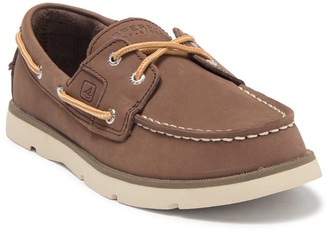 Sperry Leeward Leather Boat Shoe (Little Kid & Big Kid)