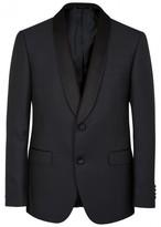 Pal Zileri Navy Wool Blend Tuxedo Jacket