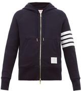 Thom Browne - Zip Through Cotton Hooded Sweatshirt - Mens - Navy