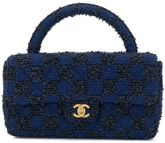 Chanel Pre Owned 1992 Tweed Two-In-One Tote Set