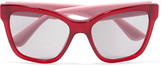 Miu Miu Square-frame embellished acetate sunglasses