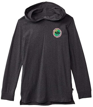 Quiksilver In Circles Hoodie (Big Kids) (Charcoal Heather) Boy's Clothing