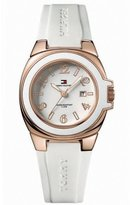 Tommy Hilfiger Riverside White Silicone White Dial Women's Watch #1780915