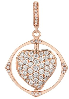 Annoushka Mythology Rose Gold Spinning Heart Charm
