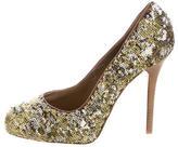 Dolce & Gabbana Sequin-Embellished Pointed-Toe Pumps
