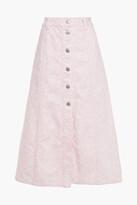 Thumbnail for your product : Ganni Floral-print Denim Midi Skirt