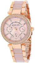 Michael Kors MK6110 Women's Parker Rose Gold & Pink Watch with Crystal Accents