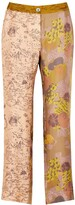 Thumbnail for your product : La Prestic Ouiston Lucky printed silk trousers