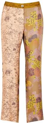 La Prestic Ouiston Lucky printed silk trousers