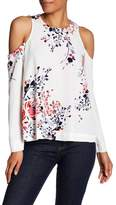 Rachel Roy Cold Shoulder Print Blouse